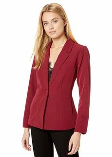 kensie Women's Thick Stretch Twill Peplum Blazer  Extra Small