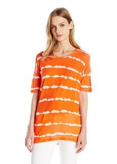 Kensie Women's Tie Dye Print Short-Sleeve Top