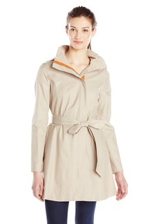 kensie Women's Tie Waist Trench Coat