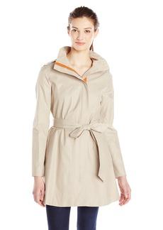 Kensie Women's Tie Waist Trench Coat  edium