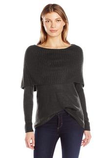 kensie Women's Tissue Knit Sweater with Cowl Neck  M