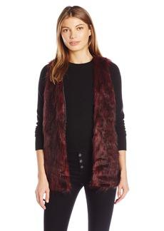 Kensie Women's Tripped Faux Fur Vest  S