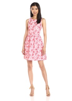 Kensie Women's Tropical Brocade Dress