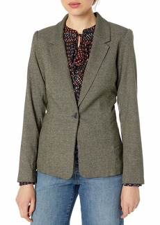 kensie Women's Tweed Plaid Blazer  Extra Small