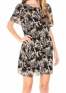 kensie Women's Twisted Animal Print Dress  M
