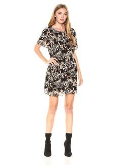 kensie Women's Twisted Animal Print Dress  S