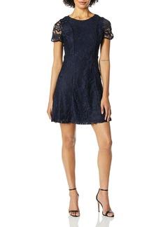kensie Women's Two Tone Lace Dress