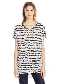 Kensie Women's Two Tone Scribble Print Top