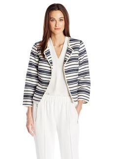 kensie Women's Upholstery Stripe Jacket  M