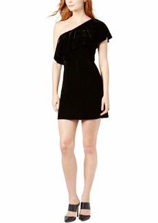 kensie Women's Velvet One Shoulder Dress  M