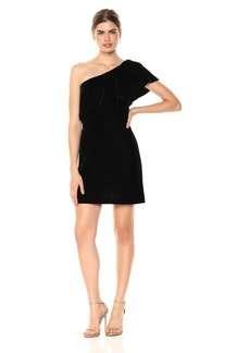 Kensie Women's Velvet One Shoulder Dress  S