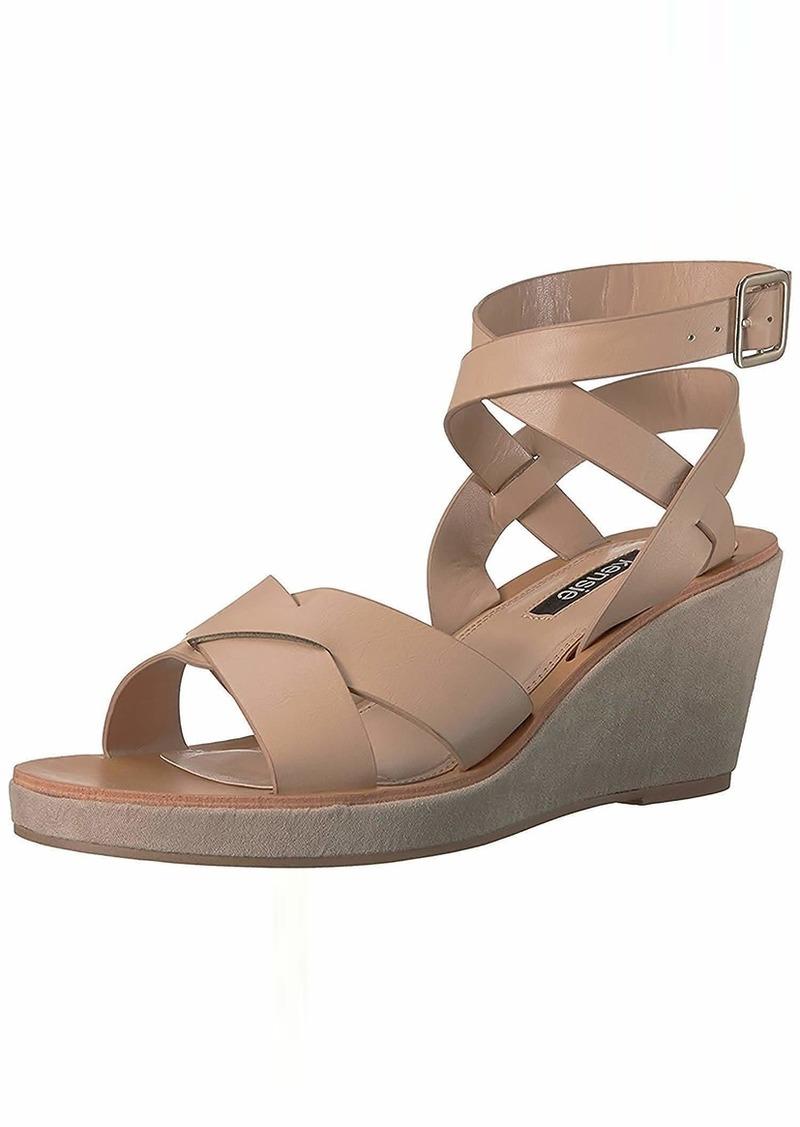 kensie Women's Venezia Wedge Sandal   M US