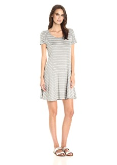 Kensie Women's Viscose Spandex Striped Dress  XS