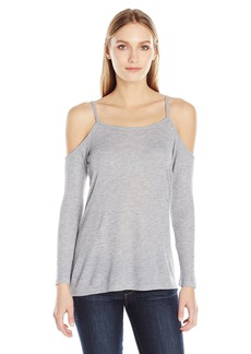 Kensie Women's Waffle Knit Cold Shoulder Top  M