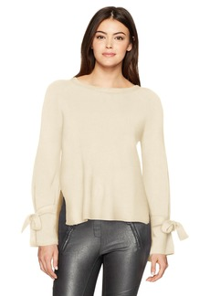 kensie Women's Warm Touch Bow Sleeve Sweater tusk M