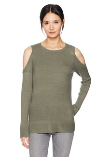 kensie Women's Warm Touch Cold Shoulder Sweater  XS