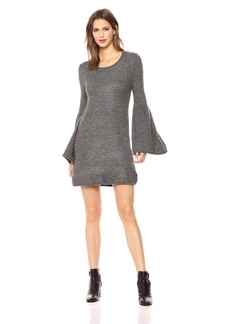 Kensie Women's Warm Touch Sweater Dress with Bell Sleeve  L