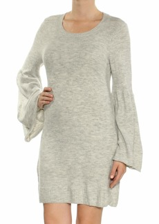 kensie Women's Warm Touch Sweater Dress with Bell Sleeve  M