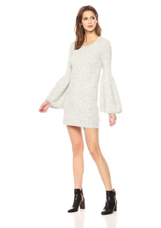 kensie Women's Warm Touch Sweater Dress with Bell Sleeve  S