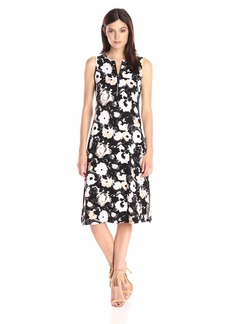 Kensie Women's Watercolor Blooms Dress