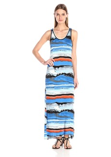 Kensie Women's Watercolor Maxi Dress