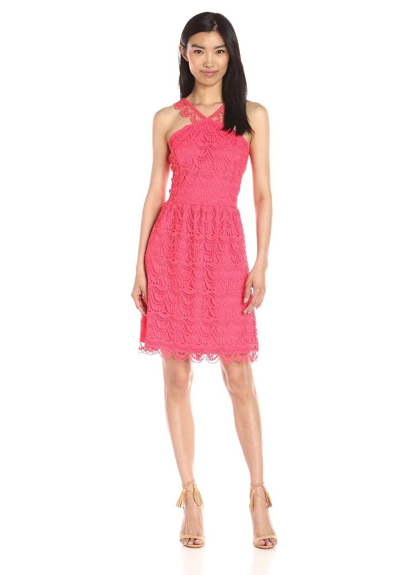 Kensie Women's Wavy Crochet-Lace Dress