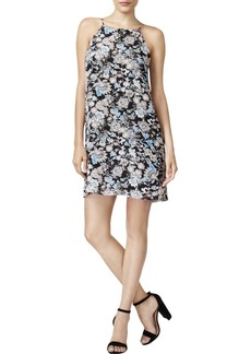 kensie Women's Wild Garden Floral Print Back Lace Detail Dress  M