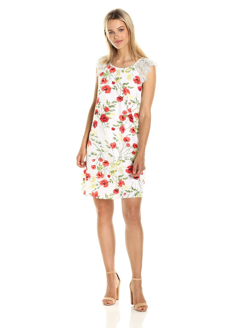 kensie Women's Wild Poppies Dress  L