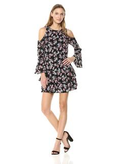 kensie Women's Wild Roses Dress  L