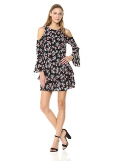 kensie Women's Wild Roses Dress  M