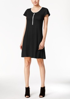 kensie Zip-Detail T-Shirt Dress