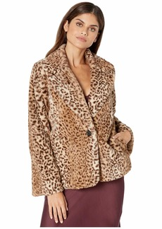 Kensie Leopard Fur Jacket KS9K2343