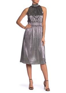 Kensie Metallic Smocked Midi Dress