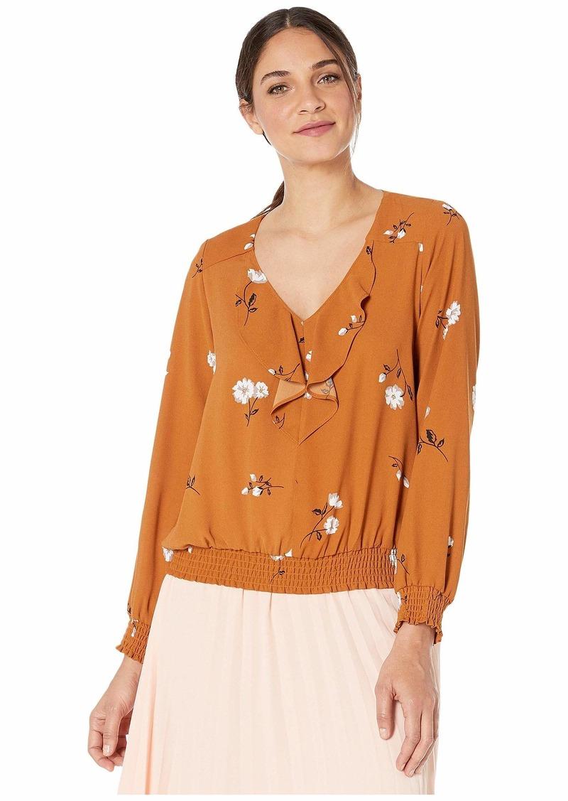 Kensie Mid Century Floral Long Sleeve Top KSNK4834