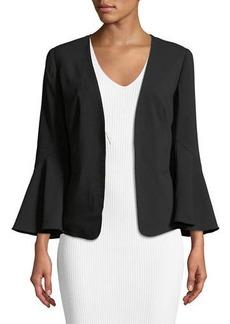 Open-Front Flare-Sleeve Jacket