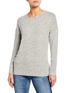 Kensie Pearly Plush Touch Sweater