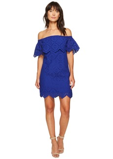 Kensie Petal Eyelet Off Shoulder Dress KS6K993S