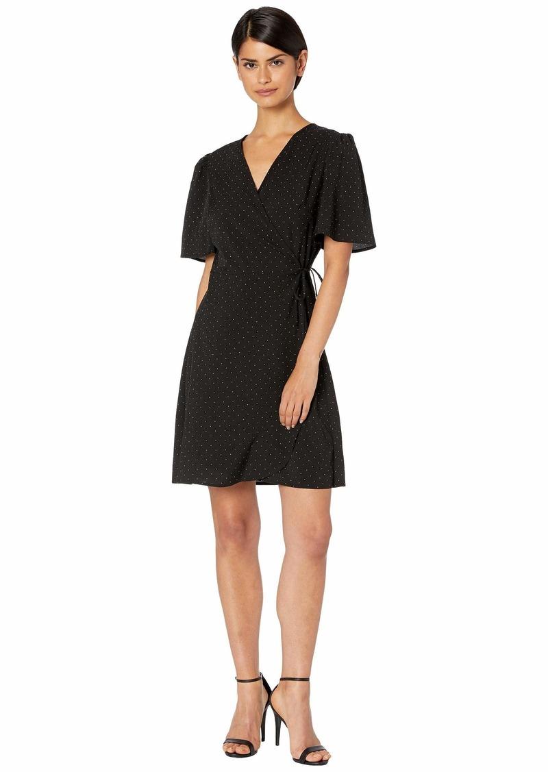 Kensie Pin Dot Wrap Dress KS4K8356