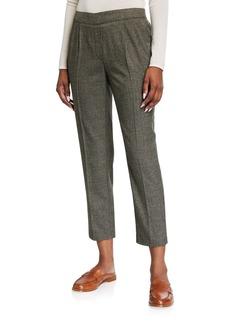 Kensie Plaid Pleated Pull-On Pants