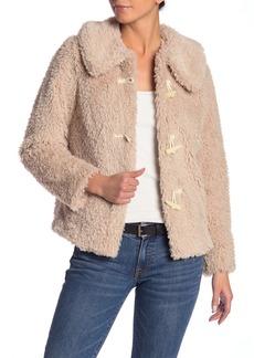 Kensie Plush Chubbie Faux Fur Jacket