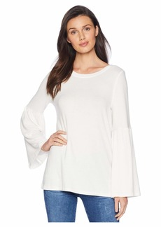 Kensie Plush Touch Top with Bell Sleeves KS0K3611