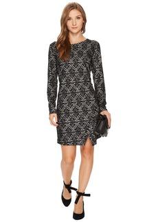 Kensie Ponte Long Sleeve Dress KS0K8103