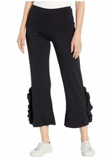 Kensie Ponte Pants with Ruffle Detail KS9K1311