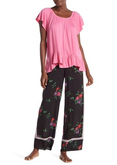 Pajama Leg Printed Pants Wide Kensie u3TKcJlF1