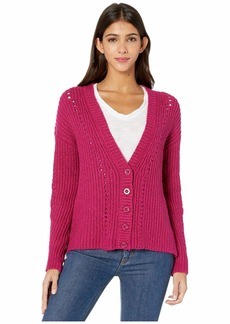 Kensie Punk Yarn Button Front Cardigan KSDK5952