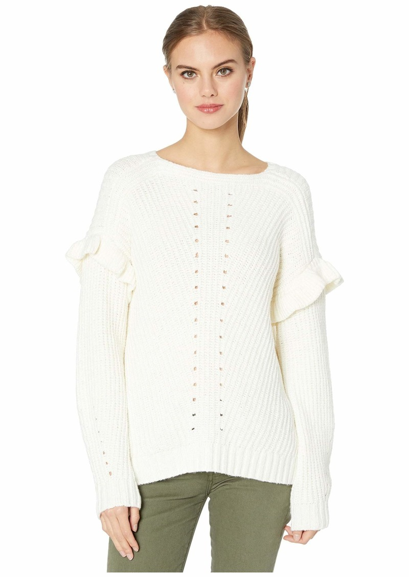 Kensie Punk Yarn Ruffle Sweater KS0K5935