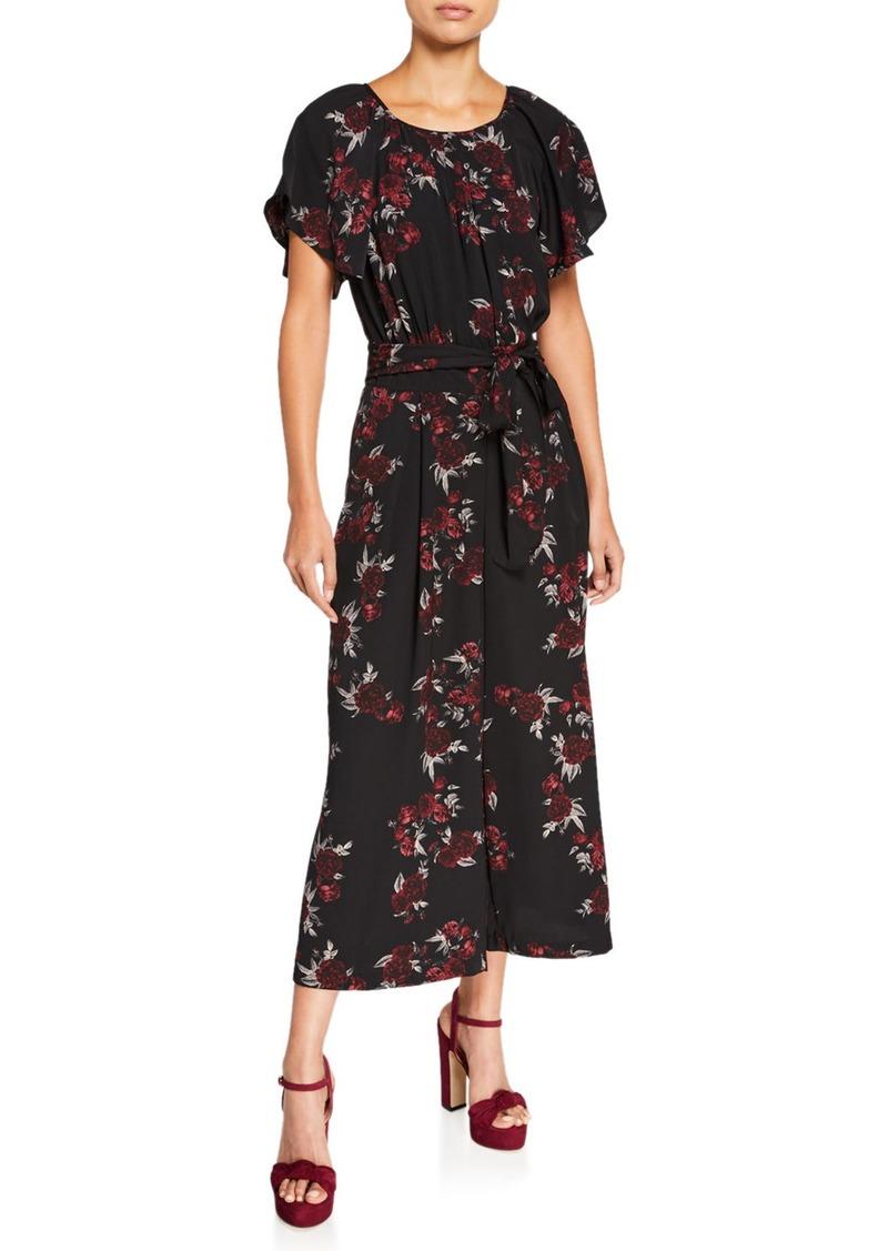 Kensie Rose Noir Cropped Jumpsuit