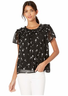 Kensie Scattered Blossoms Short Sleeve Top KS7K4707