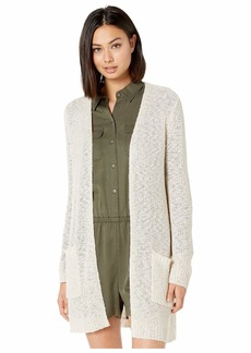 Kensie Sheer Boucle Long Cardigan KS8K5934