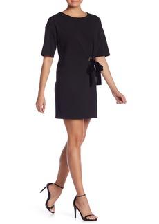 Kensie Short Sleeve Velvet Tie Shift Dress